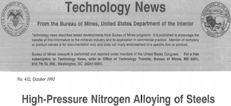 high-pressure nitrogen alloying of steels