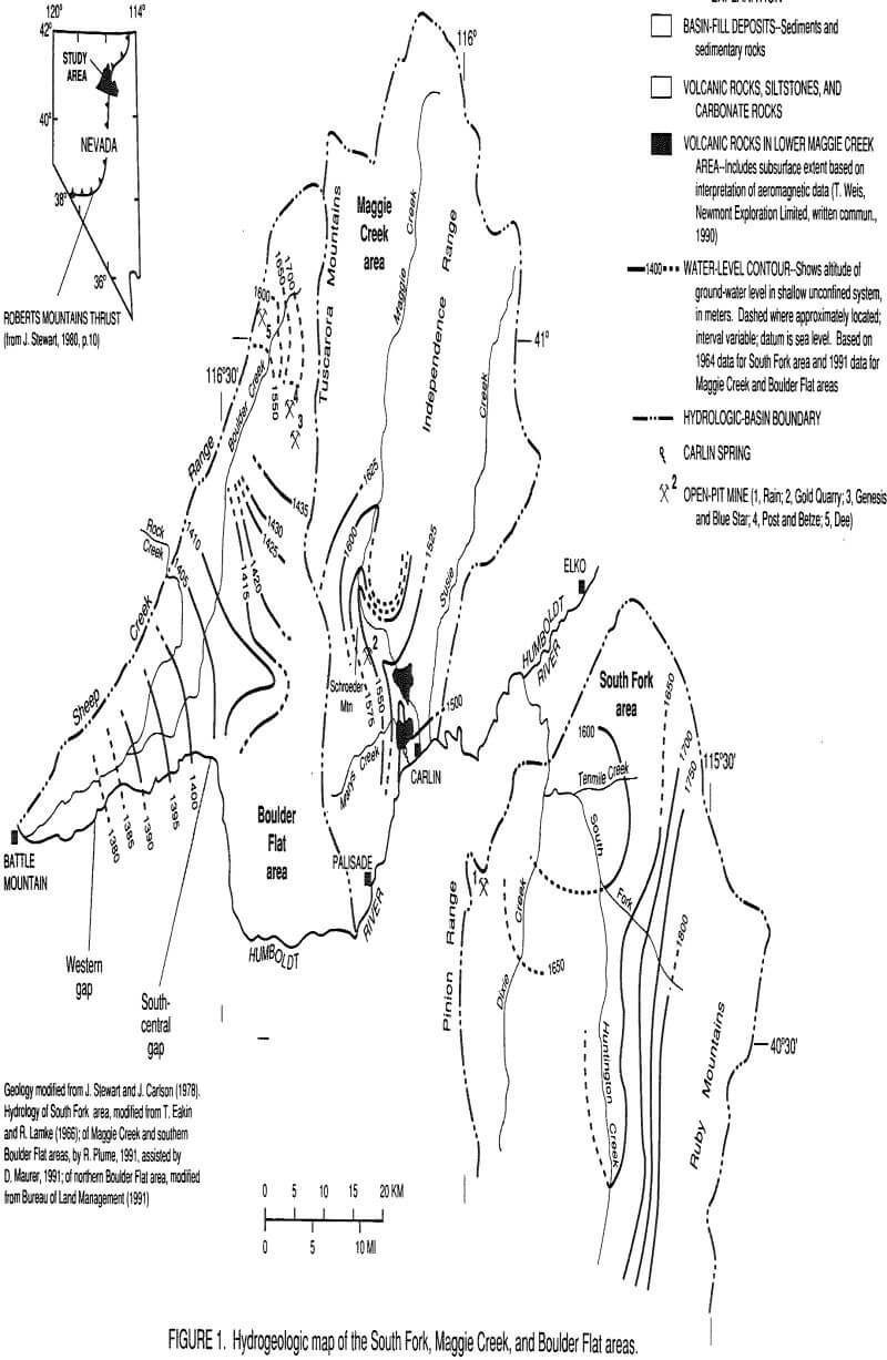 hydrogeologic setting map