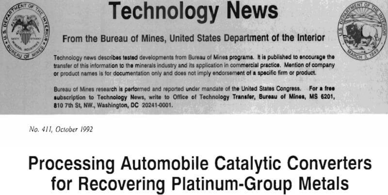 processing automobile catalytic converters for recovering platinum-group metals