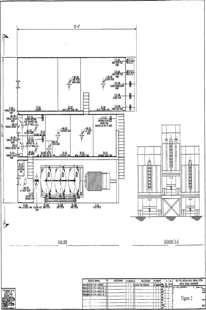 chemical-stabilization module general arrangement