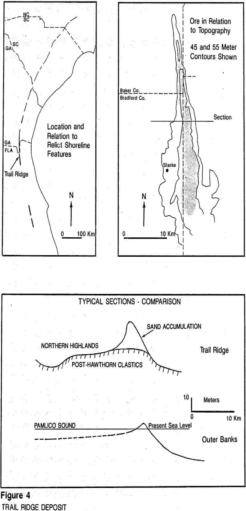 trail ridge deposit placer