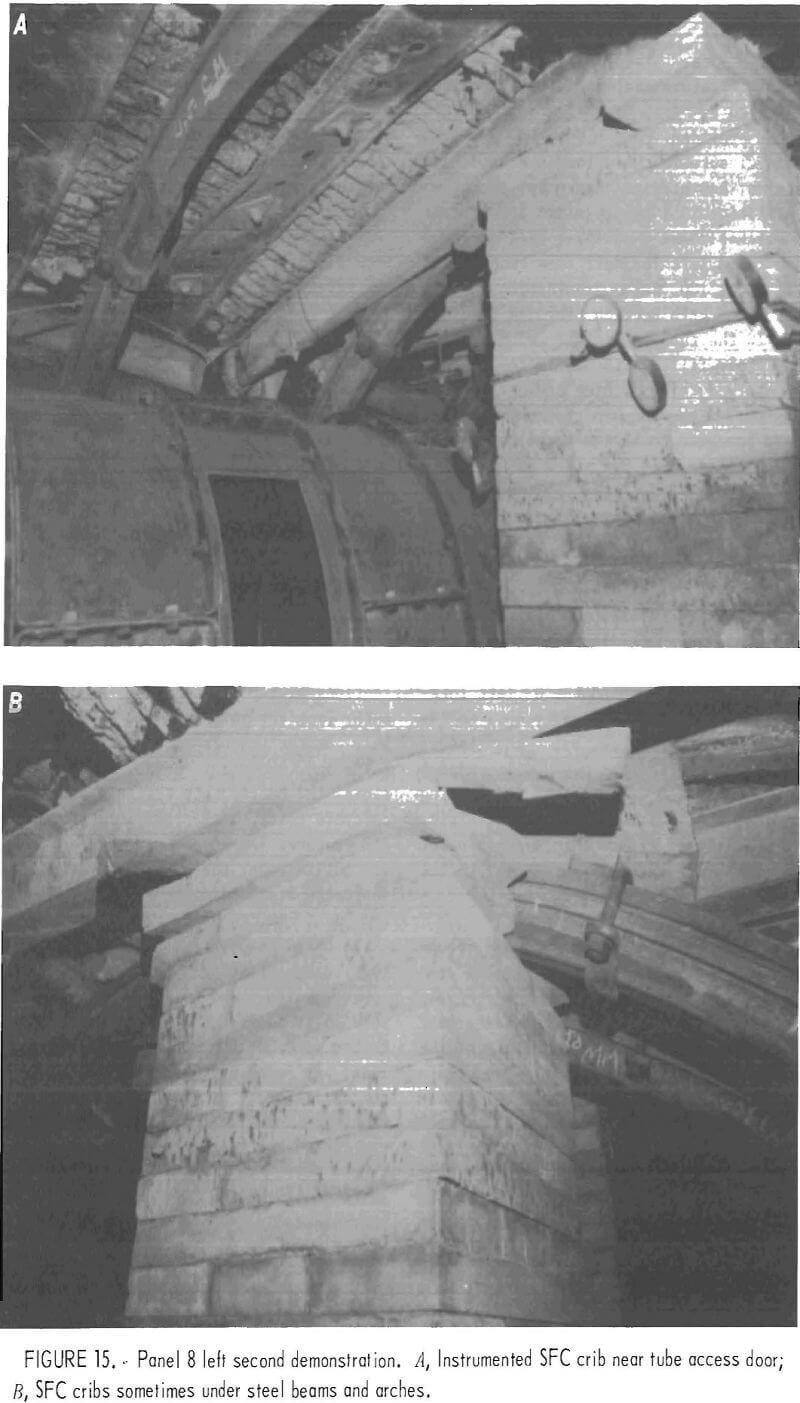 concrete crib design steel beams