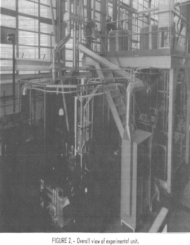 ferric-chloride-leaching experimental unit