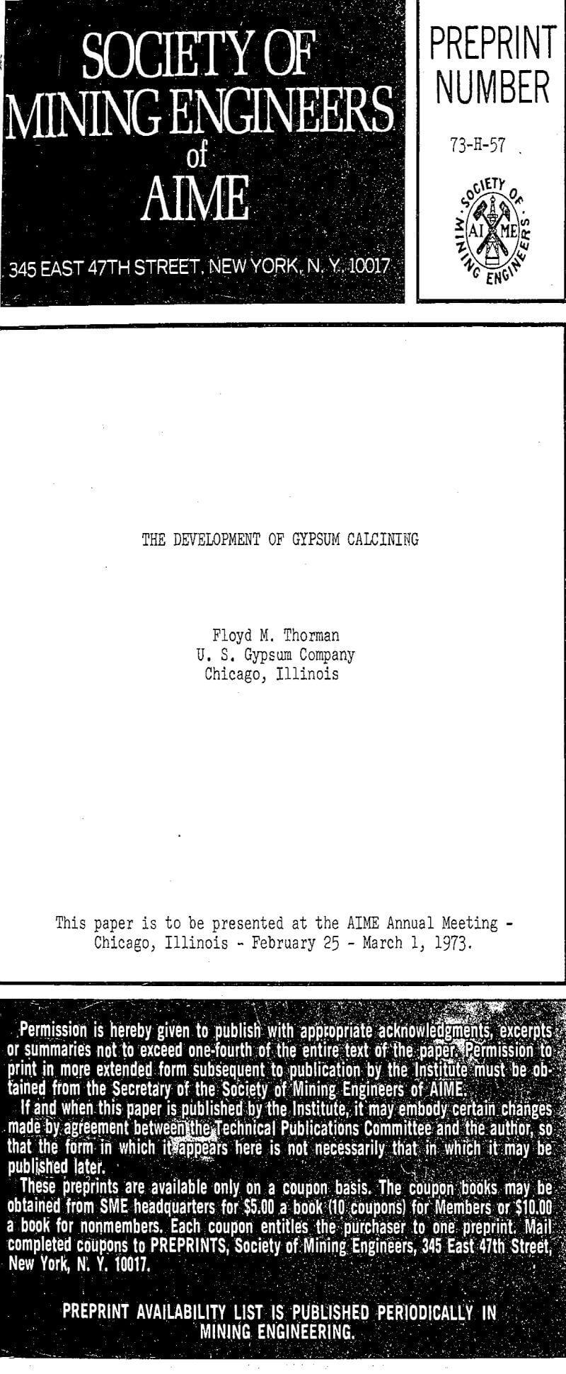 the development of gypsum calcining