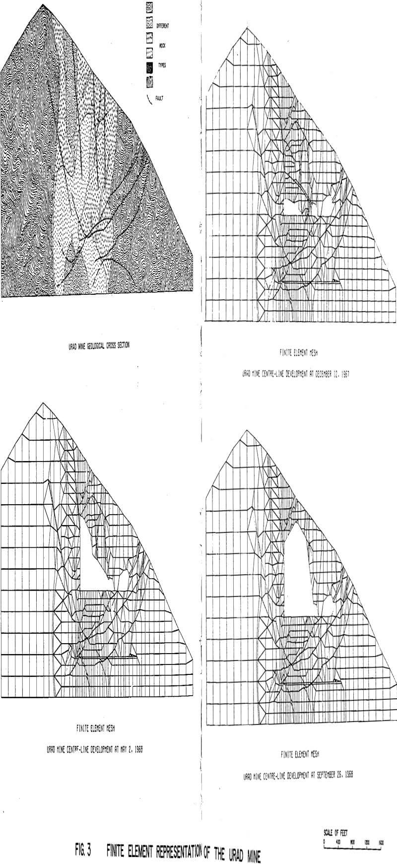 block caving finite element