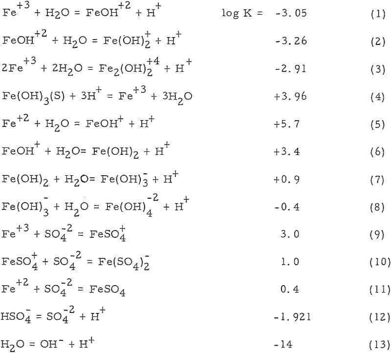 dump leaching equation