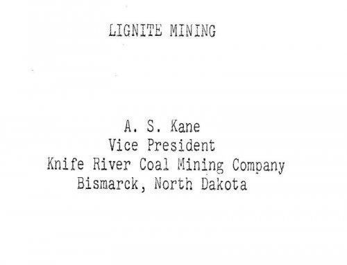 Lignite Mining