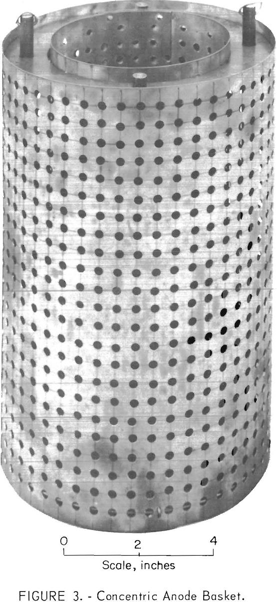 electrorefining vanadium scrap concentric anode basket