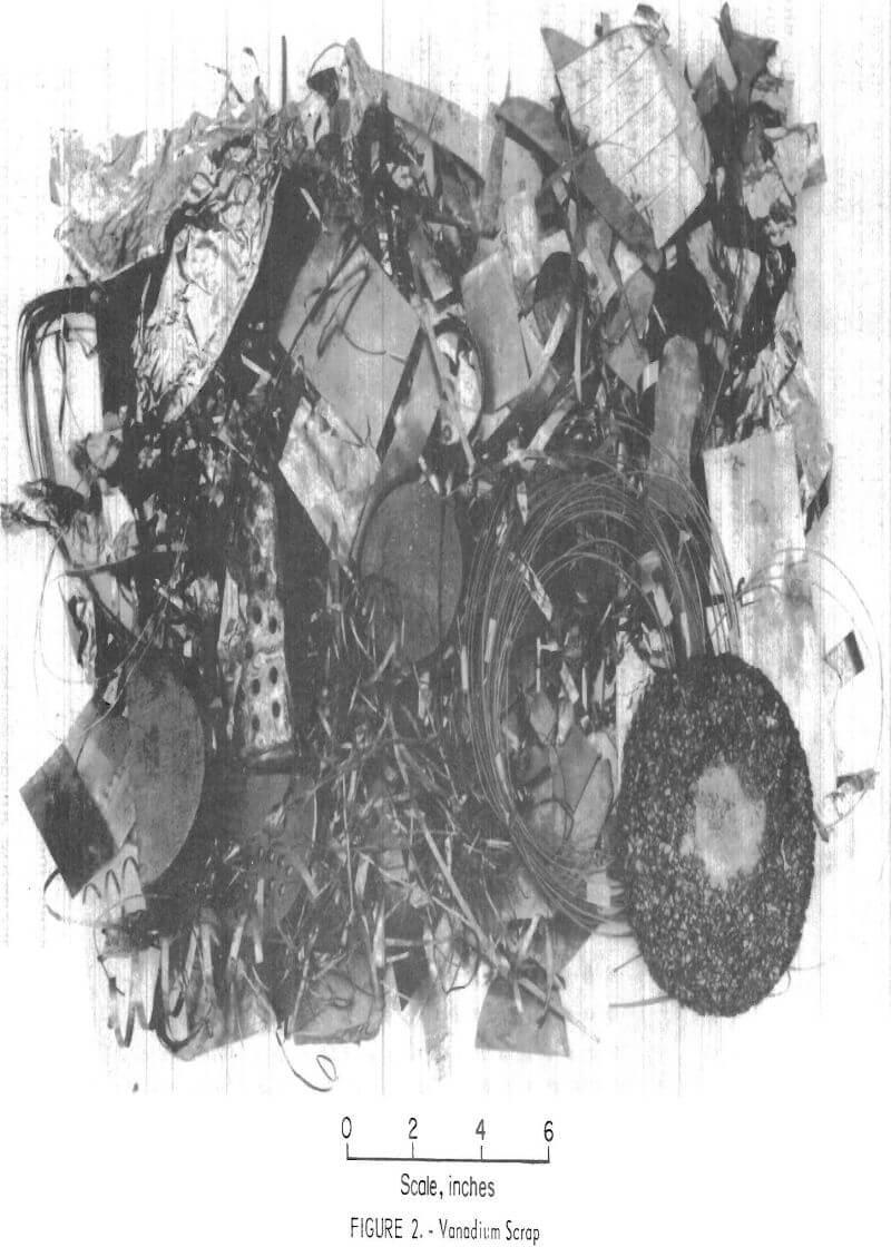 electrorefining vanadium scrap