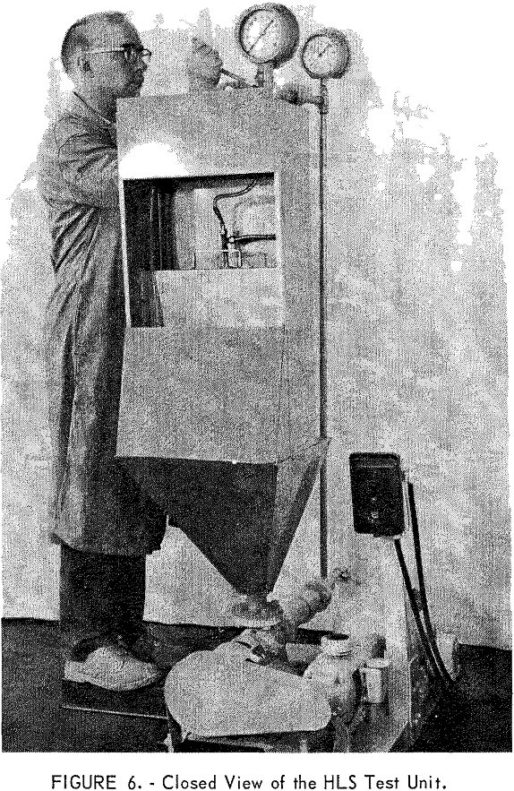 heavy liquid cyclone closed view of the hls test unit