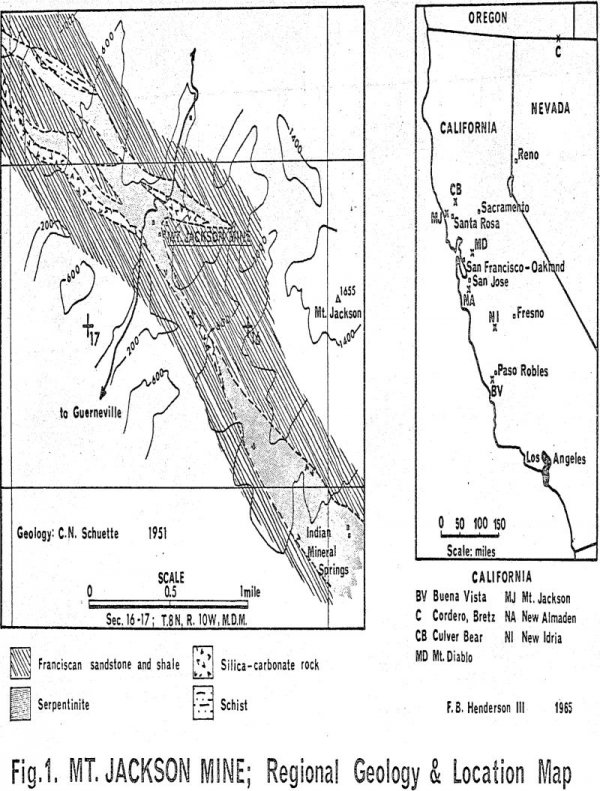 mercury-ores regional geology and location map