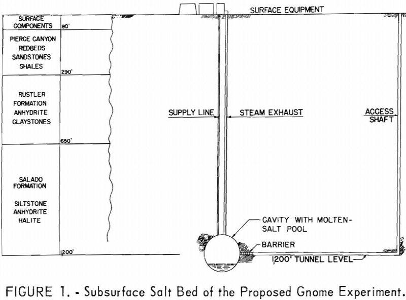 molten salt subsurface salt bed