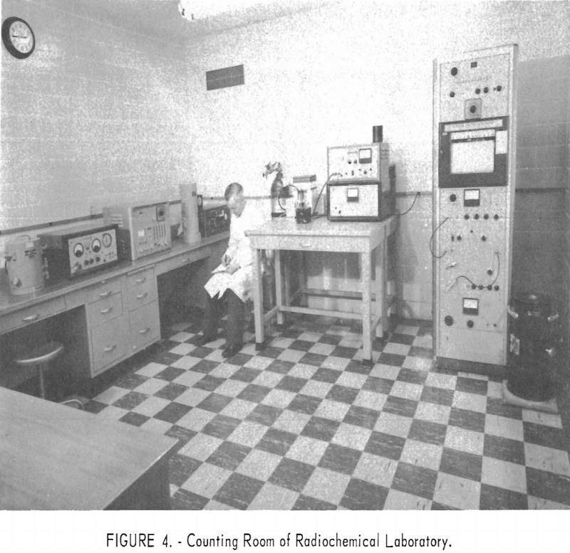 radioisotopes counting room of radiochemical laboratory