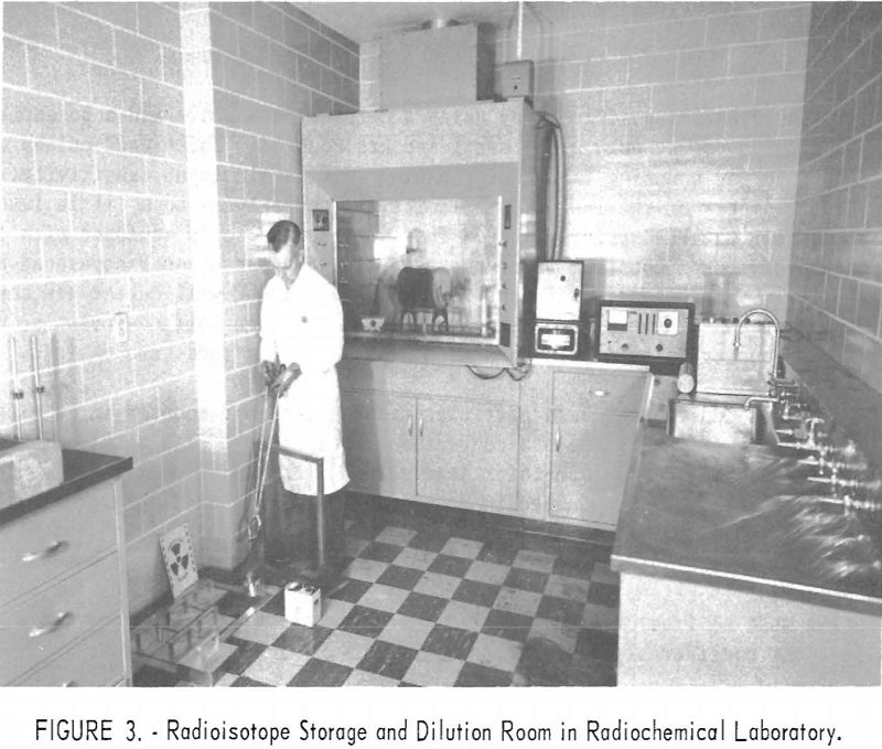 radioisotopes storage and dilution room