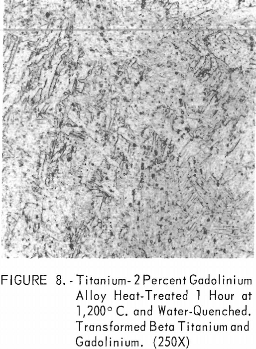 titanium-gadolinium water-quenched