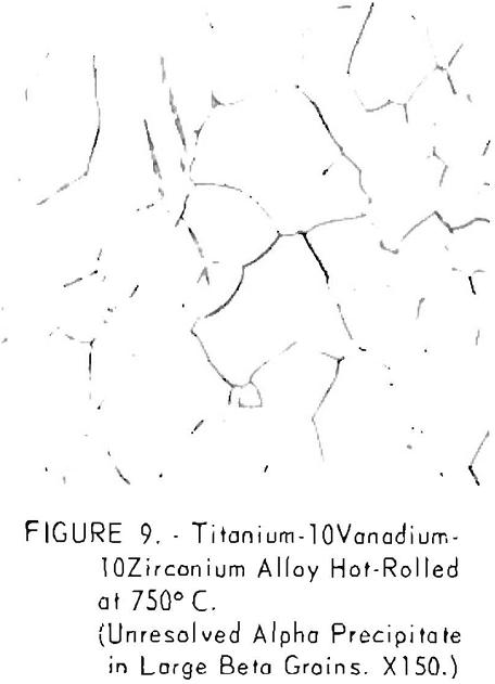 titanium-vanadium-zirconium alloys hot-rolled