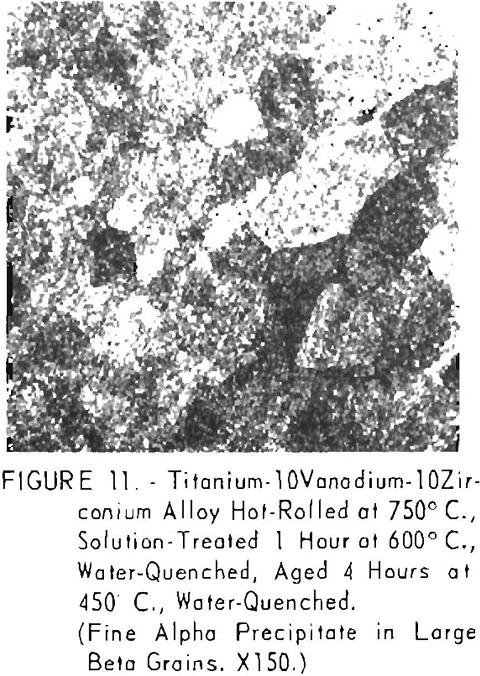 titanium-vanadium-zirconium alloys solution treated
