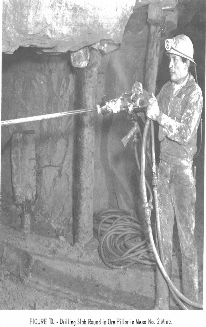 uranium mining drilling slab