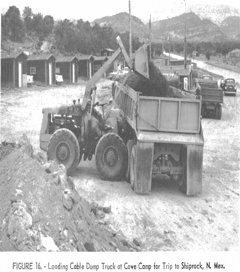uranium mining loading cable dump