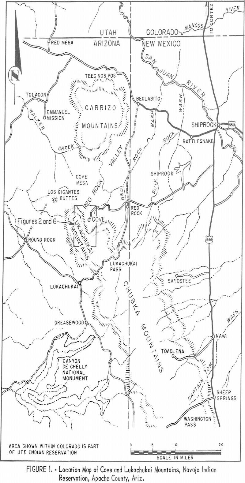 uranium mining location map
