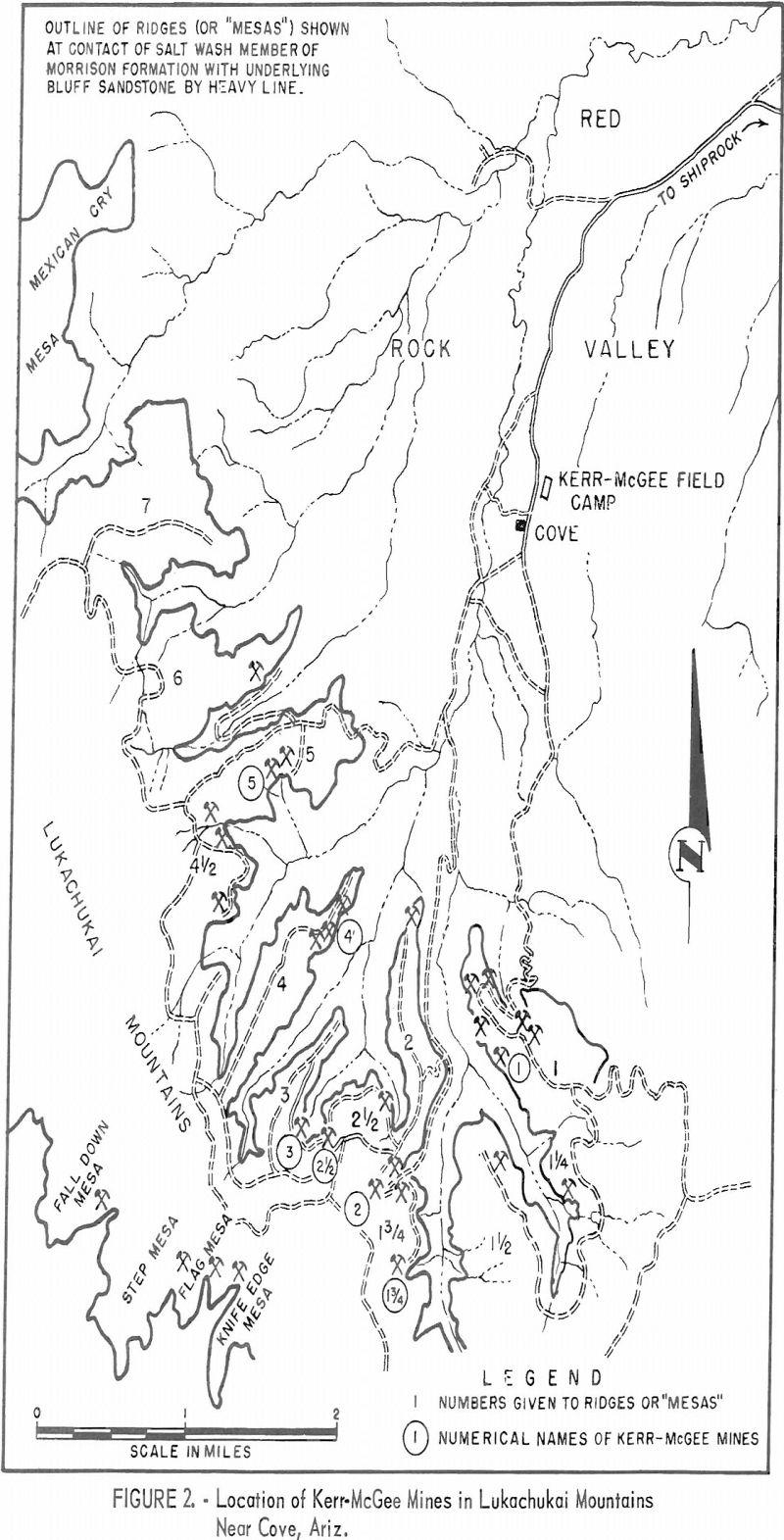 uranium mining location of kerr-mcgee mines
