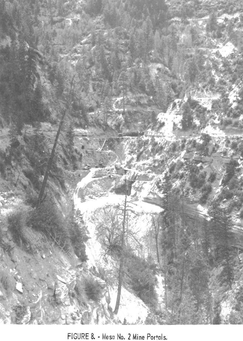 uranium mining mesa no. 2 mine portals