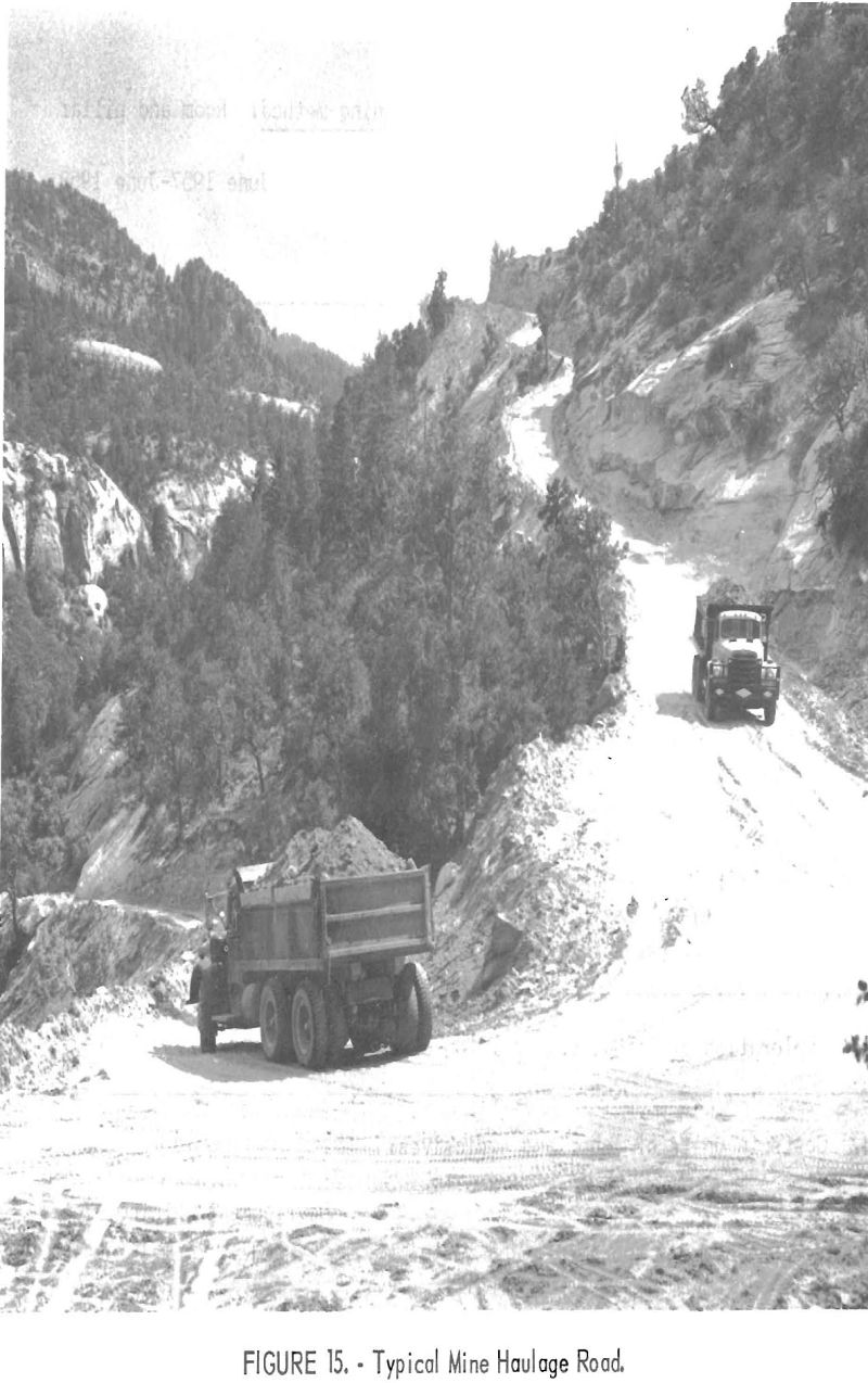 uranium mining typical mine haulage road