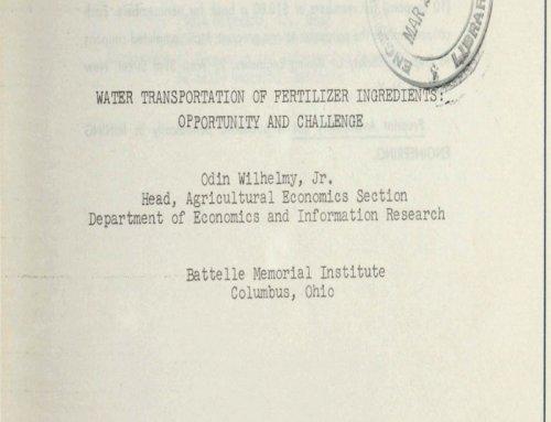 Water Transportation of Fertilizer Ingredients