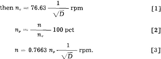tumbling mill equation