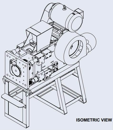 Chancadora De Quijada 7.5″ X 7.5″ Isometric View